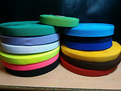Elastic 20mm Check Pattern Tape Webbing Strap Braces Waistband-(20-Colours) • 2.09£