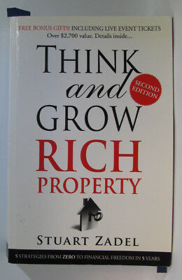 AU15.19 • Buy #BC,, Stuart Zadel THINK AND GROW RICH IN PROPERTY, SC VGC