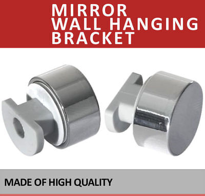 £6.99 • Buy 4x Chrome Mirror Wall Hanging Fixing Kit Frameless Clips Mounting Hanger No Hole