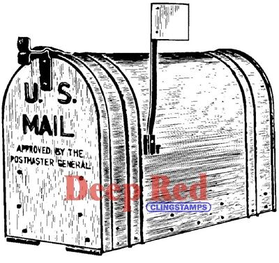 $6.99 • Buy Deep Red Stamps Outgoing Mail Rubber Cling Stamp