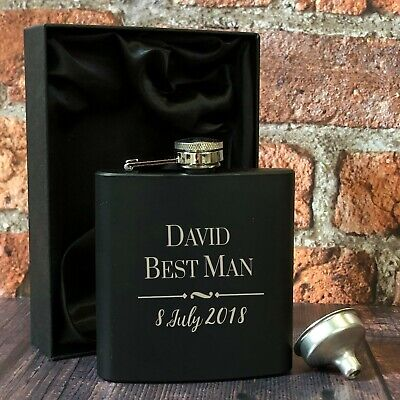 £10.99 • Buy Personalised Hip Flasks Ideal For Wedding Favours Thank You Gifts Presents Token