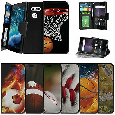 AU14.62 • Buy For LG V30 | LG V30 Plus Wallet Case W/ Strap Card Slots Stand - Sports & Galaxy