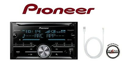 $175 • Buy Pioneer FH-X830BHS CD Receiver W/ Bluetooth & Lightning To USB Cable Adapter