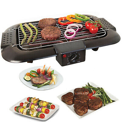 £29.94 • Buy Electric Bbq Barbecue Grill Griddle Table Top Camping Kitchen Cookin 2000w