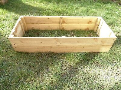 25cm High Raised Bed Wooden Garden Planter, Vegetables, Seeds, Bedding, Herbs • 43£