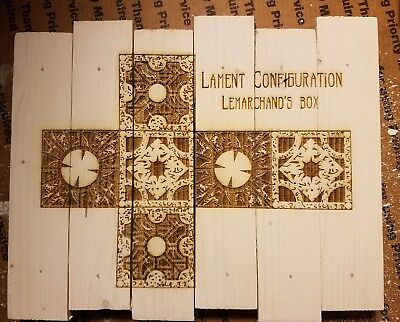 The Lament Configuration Hellraiser Puzzle Box Custom Wood Sign Poster • 19.24£
