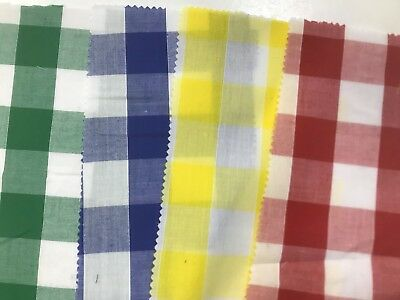 £3.99 • Buy GINGHAM FABRIC 1 INCH 112CM WIDE Dress Clothing Tablecloth Curtains Craft Check