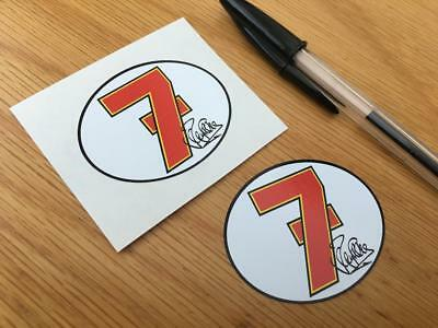Barry Sheene Number 7 Stickers (Very Small Pair) • 3£