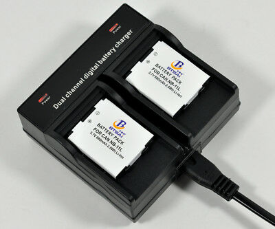 AU44.50 • Buy Dual Charger +2x680mAh Battery For Canon NB-11LH CB-2LD IXUS 135 140 145 150 160