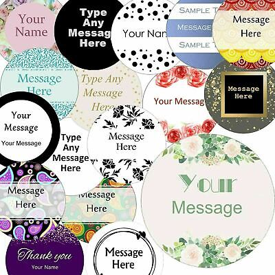 £2.99 • Buy 37mm Round Custom Logo Stickers, Personalised  Business/Company Name Labels