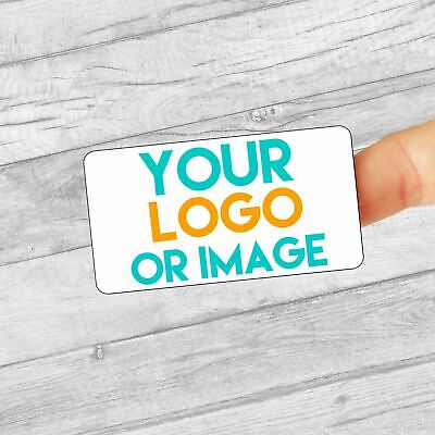 £2.99 • Buy Personalised Custom Logo Large Stickers/Address Labels 64x34mm