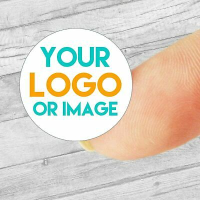 £2.99 • Buy Custom Logo Personalised Mini Circle Labels/stickers, Company Stickers 19mm