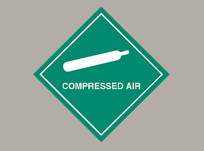 6 X Compressed Air Stickers • 3£