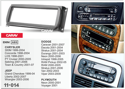 $11.99 • Buy CARAV 11-014 Car Radio Stereo Face Facia Surround Trim Kit For CHRYSLER/JEEP