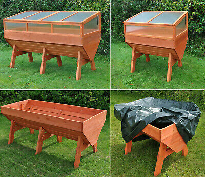 Selections Large Wooden Garden Vegetable Trough Raised Planter Grow Bed Trug • 79.99£