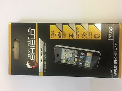 £4.95 • Buy Genuine Zagg InvisibleSHIELD Screen Protector For Apple IPhone 4/4S NEW