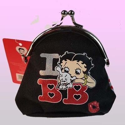 £5.95 • Buy Betty Boop Material Women Ladies Purse Coin Purse Snap Clasp Closer I Love BB