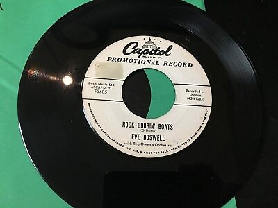 £13.31 • Buy Rare PROMO 45 Eve Boswell - Rock Bobbin' Boats / Where In The World Is Billy VG+