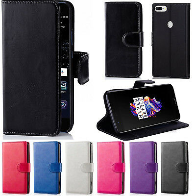 AU6.99 • Buy For OnePlus 5 5T Wallet Leather Flip PU Card Pocket Case Cover For One Plus 5 5T