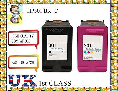 £22.99 • Buy 2 Compatible Ink Cartridge For HP 301 Envy 4500 4502 4504 4505 4507