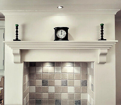 Mantle Shelf MODERN Style Solid Pine Wood Floating Fireplace Oven Mantel Piece  • 45£