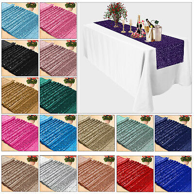 £5.89 • Buy Sequin Table Runners Sparkly Glitter Shiny Valentine Party Decoration 274cm Long