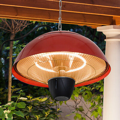 £49.99 • Buy Outsunny Patio Heater 1500W Electric Aluminium Ceiling Hanging Garden Light Lamp