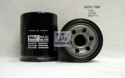 AU8.94 • Buy Nippon Max  Oil Filter   WZ411NM Z411 Suits EUNOS/FORD/
