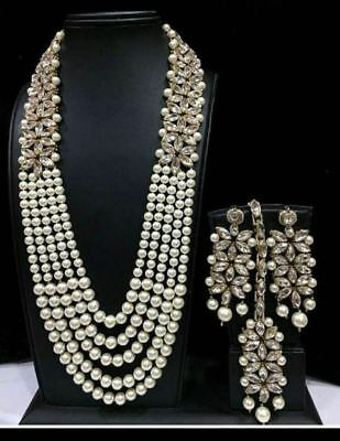 £20.99 • Buy Indian Bollywood Necklace Earrings New Gold Bridal Wedding Costume Jewellery Set