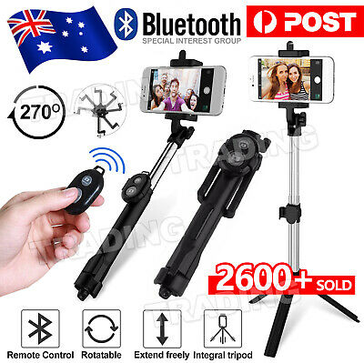 AU14.85 • Buy Unipod Selfie Stick Handheld Tripod Bluetooth Shutter For IPhone 11 Pro Samsung