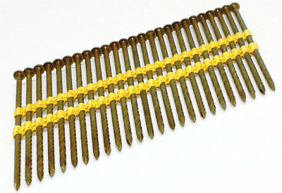 21/22 Degree Angled Round Head Plastic Collated Galvanised Framing Strip Nails • 55.60£