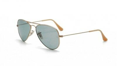 5a171ac1c79 New Ray Ban Aviator Small Matel RB3044 112 62 Matte Gold W Crystal Blue