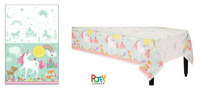 AU8.90 • Buy Unicorn Party Supplies TABLE COVER Tablecloth