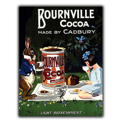 £4.45 • Buy CADBURY'S BOURNVILLE Cocoa BY CHOCOLATE SIGN METAL WALL PLAQUE Advert Kitchen