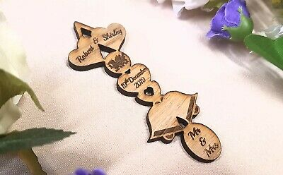 £3 • Buy 3 X Personalised Wedding Favour Love Spoons Samples £1 Each Craft Lasered