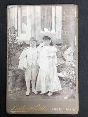 £6 • Buy Victorian Cabinet Card: Latham & Bott: Longton Staffs: Children Fancy Outfits