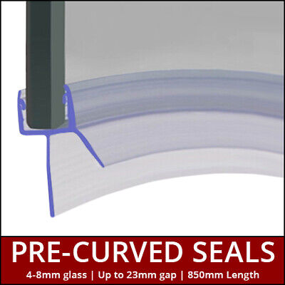 £17.99 • Buy Pre Curved Shower Seal Strip | Screens, Doors Or P Shaped Baths | 4 To 8mm Glass