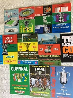 Football League Cup Final Programmes 1963 To 1986 ~ You Choose Which Year • 2.99£