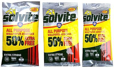 £2.99 • Buy Solvite Wallpaper Adhesive Paste Extra Strong All Purpose