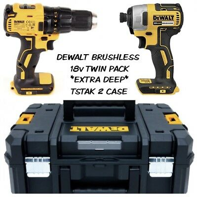 Dewalt DCF787N 18V Brushless Impact Driver With DCD777N  Drill  DRIVER Twin Pack • 169.98£