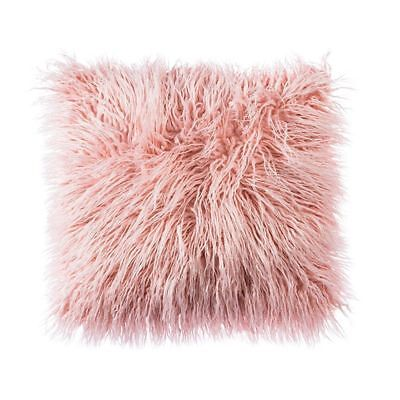 £7.99 • Buy  PINK FAUX MONGOLIAN FUR CUSHION COVER WITH FAUX SUEDE BACK  45X45cms
