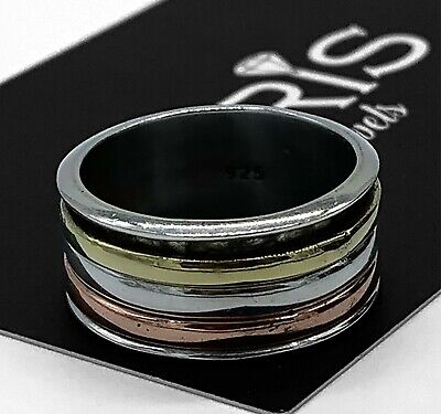 Genuine 925 Sterling Silver Mens Ladies Spinner Ring Band Spinning Stress Boxed • 16.99£