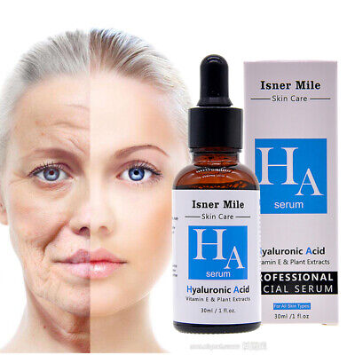 Hyaluronic Acid Strong Anti Wrinkle Serum 100% Natural Pure Firming Collagen • 4.99£