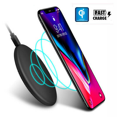 $ CDN6.64 • Buy Qi Wireless Fast Charger Charging Pad Mat For Samsung Galaxy IPhone X 8/8 Plus