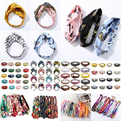 Fashion Women Turban Twist Knot Head Wrap Headband Twisted Knotted Hair Band • 0.99$
