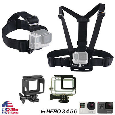 $ CDN11.41 • Buy Harness Head + Chest Strap Mount For GoPro Hero 4 3+ 3 2 1 Chesty Accessories