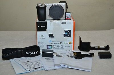 $ CDN621.19 • Buy Sony Alpha A6000 24.3MP (Silver) Body Only+ Extras_ Only 237 Clicks_ MINT Cond