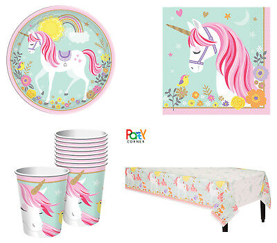 AU24.90 • Buy Magical Unicorn Party Supplies PARTY PACK For 8 Guests