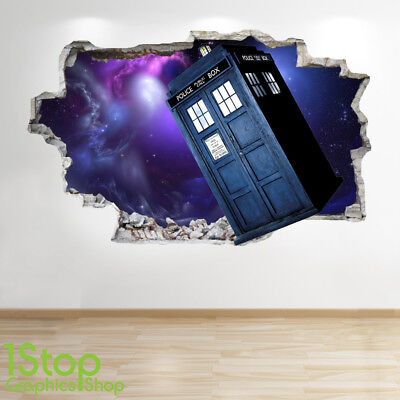 Doctor Who Wall Sticker 3d Look - Bedroom Kids Tardis Wall Decal Z712 • 13.99£