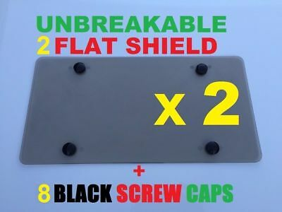 $8.95 • Buy 2 Unbreakable Tinted Smoke Flat License Plate Holder Frame Bumper Shield Cover